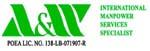 A & W INTERNATIONAL MANPOWER SERVICES SPECIALIST logo